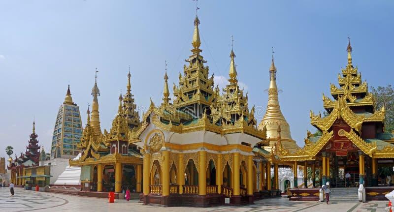 Pagode de Shwedagon Paya, Myanmar fotos de stock royalty free