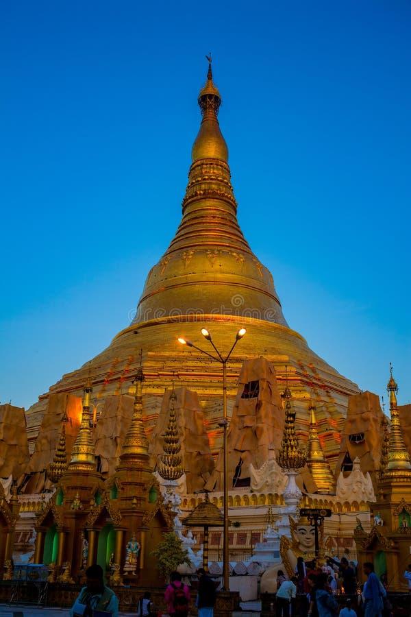 Pagode de Shwedagon Paya Yangon, Myanmar fotografia de stock