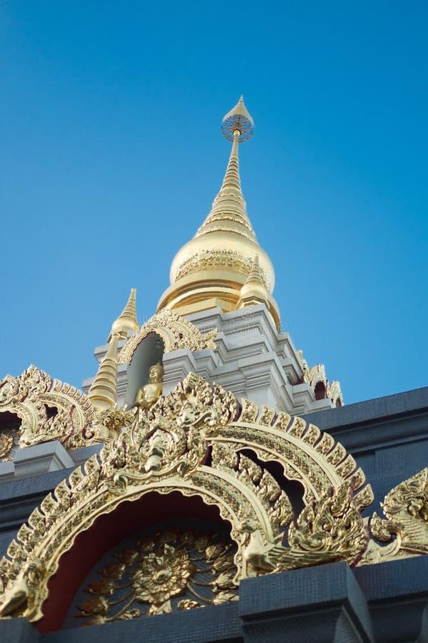 Pagode de Srinakarin no salong de Doi Mae, Chaingrai, Tailândia imagem de stock