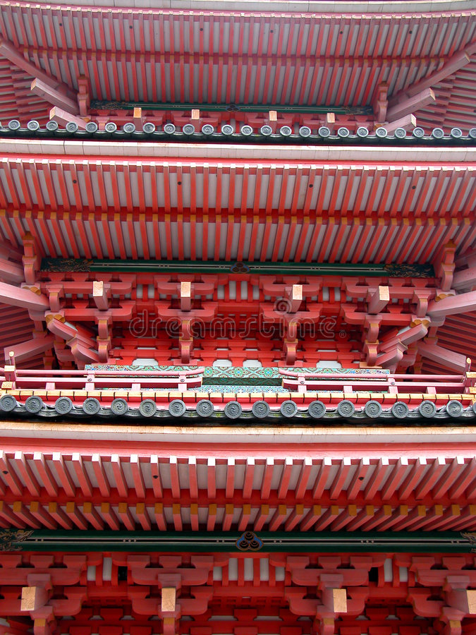 Pagode-detail royalty-vrije stock foto's