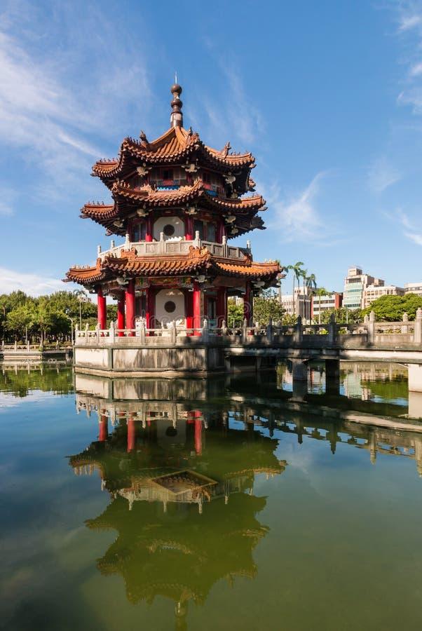 Pagode do estilo chinês 228 na paz Memorial Park em Taipei fotos de stock royalty free