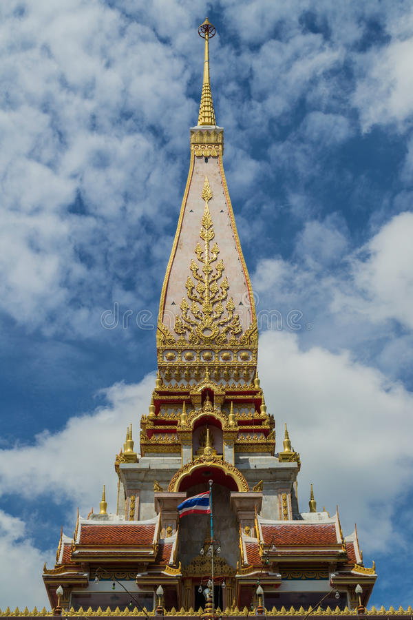 Pagode do templo do chalong imagens de stock