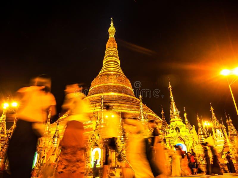 Pagode dourado de Shwedagon, Myanmar fotos de stock royalty free