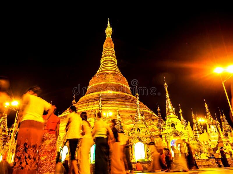 Pagode dourado de Shwedagon, Yangon, Myanmar fotografia de stock