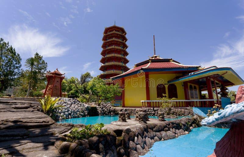 Pagode Ekayana, Tomohon, Sulawesi Utara royalty-vrije stock afbeeldingen