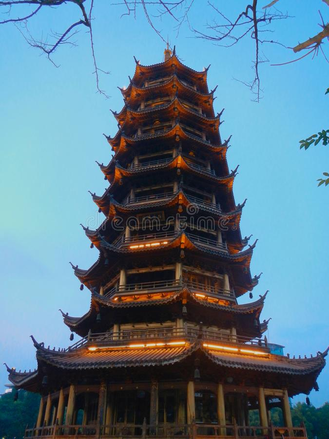 Pagode em Guilin, China fotos de stock
