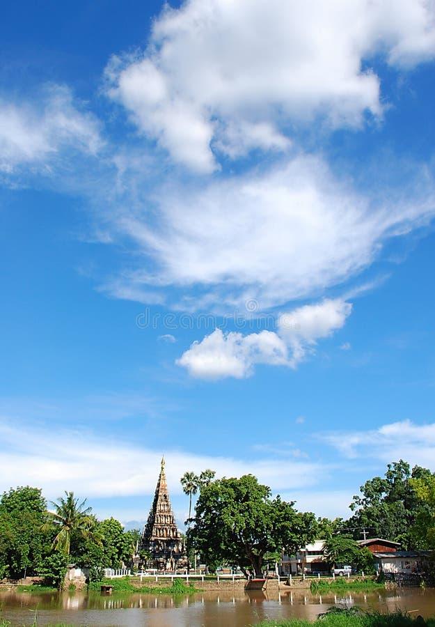 Pagode en blauwe hemel royalty-vrije stock fotografie
