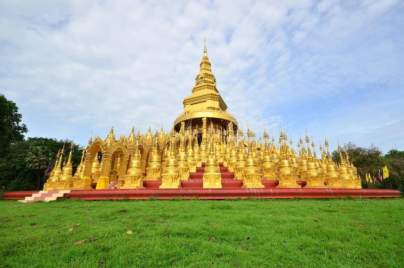 Pagode in Gabe Wat PA-Sa Wang lizenzfreies stockbild