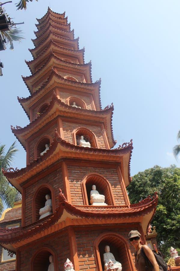 Pagode. Hanoi Vietname budism buda royalty free stock photography