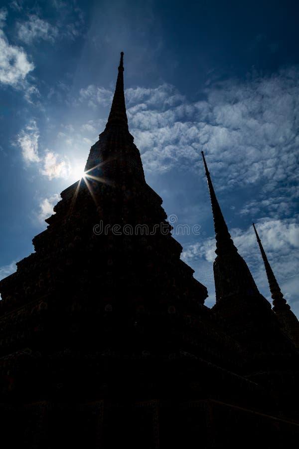 Pagode im Tempel von Thailand stockbild