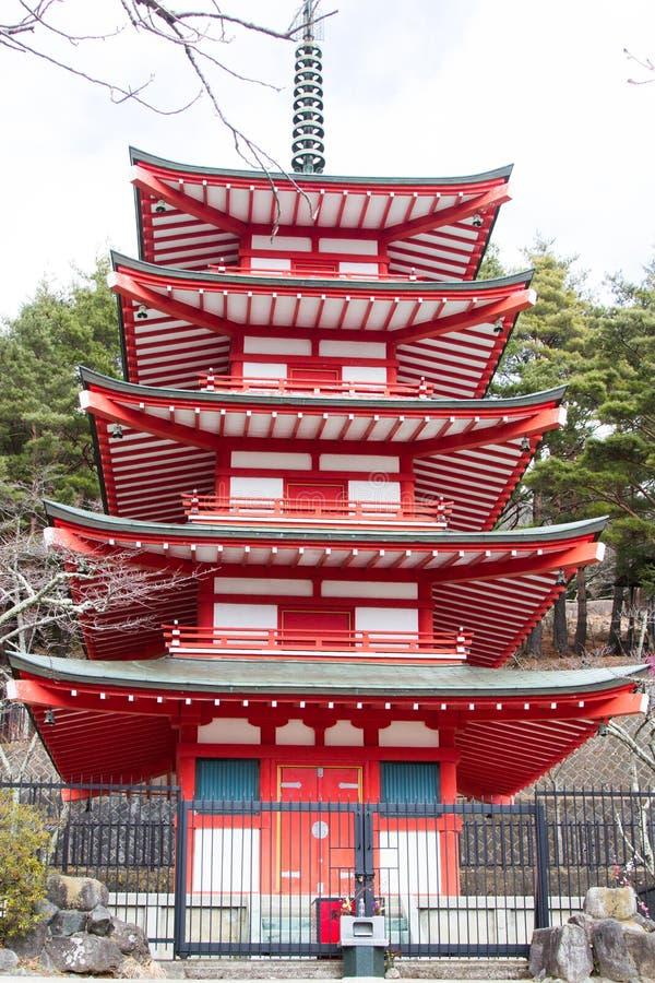 Pagode Japão de Chureito fotografia de stock