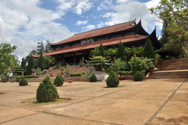 Pagode Linh An, Vietnam stockbild