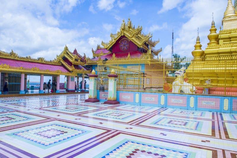 Pagode Myanmar de Sagaing imagens de stock