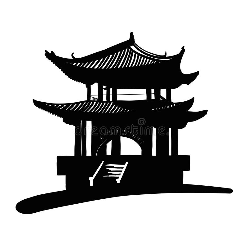 Pagode nationale chinoise illustration libre de droits