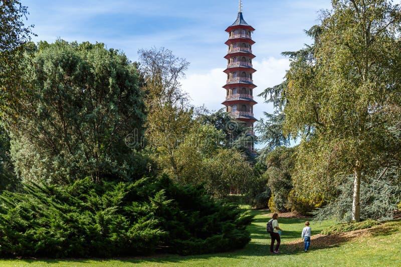 Pagode no jardim de Kew, Londres foto de stock