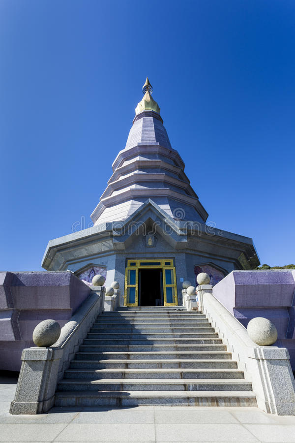 Pagode no parque nacional de Doi Inthanon imagem de stock royalty free