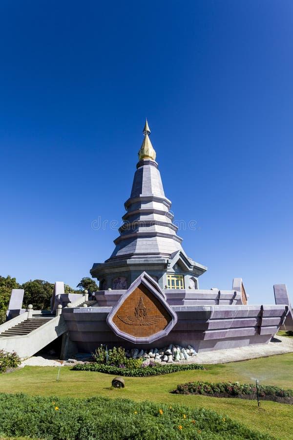 Pagode no parque nacional de Doi Inthanon imagens de stock royalty free