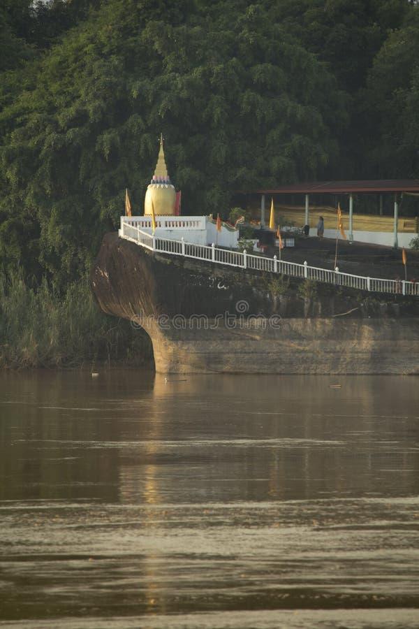Pagode openbare tempel in Laos royalty-vrije stock fotografie