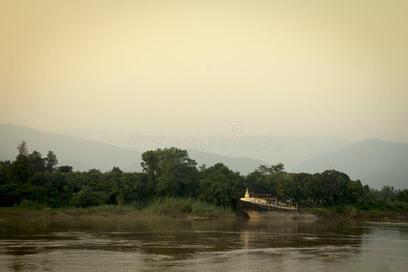 Pagode openbare tempel in Laos royalty-vrije stock afbeelding