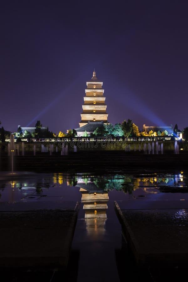 Pagode selvagem gigante do ganso em Xian, China fotos de stock royalty free