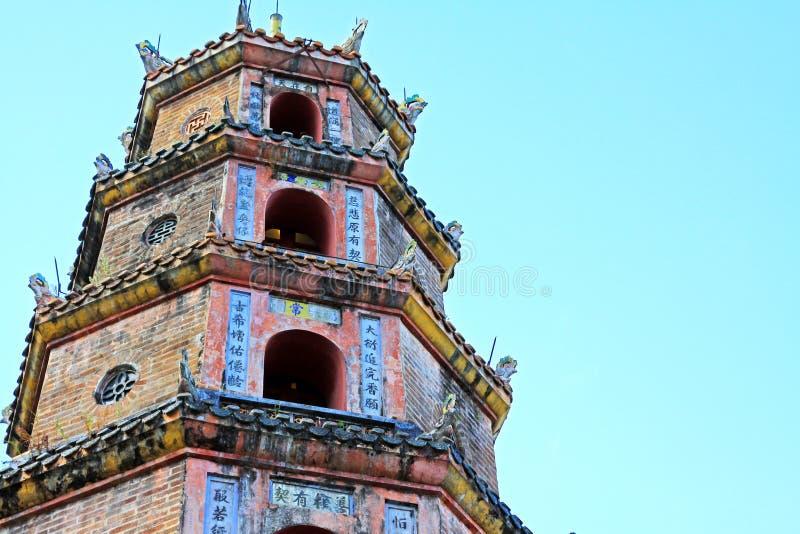 Pagode Thien MU, Hue Vietnam stockfoto