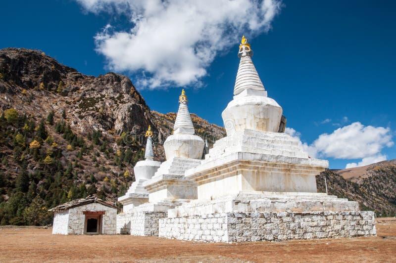 Pagode tibetano fotografia de stock