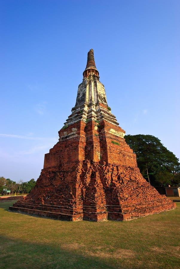 Pagode van Ayutthaya stock afbeeldingen