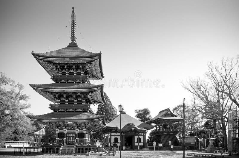 Pagode van Narita San Shinsho ji tempel, Narita, Chiba, Japan royalty-vrije stock fotografie