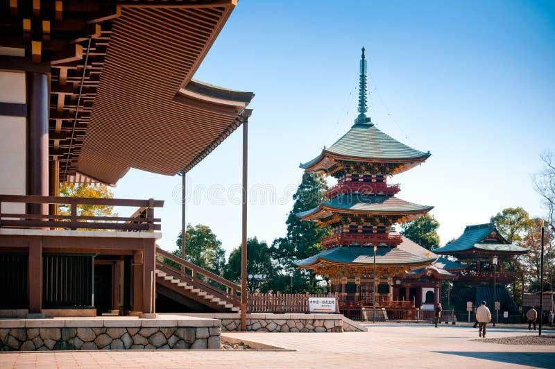 Pagode van Narita San Shinsho ji tempel, Narita, Chiba, Japan stock foto