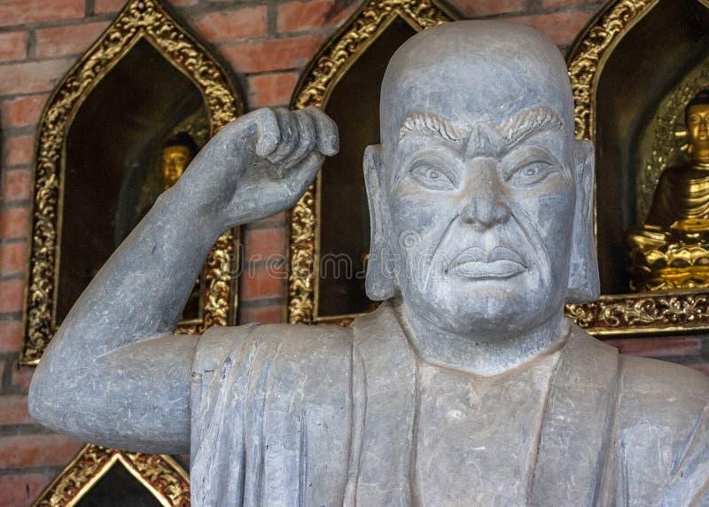 Pagode Vietnams Chua Bai Dinh: Schließen Sie oben vom buddhistischen Philosophen. lizenzfreie stockbilder