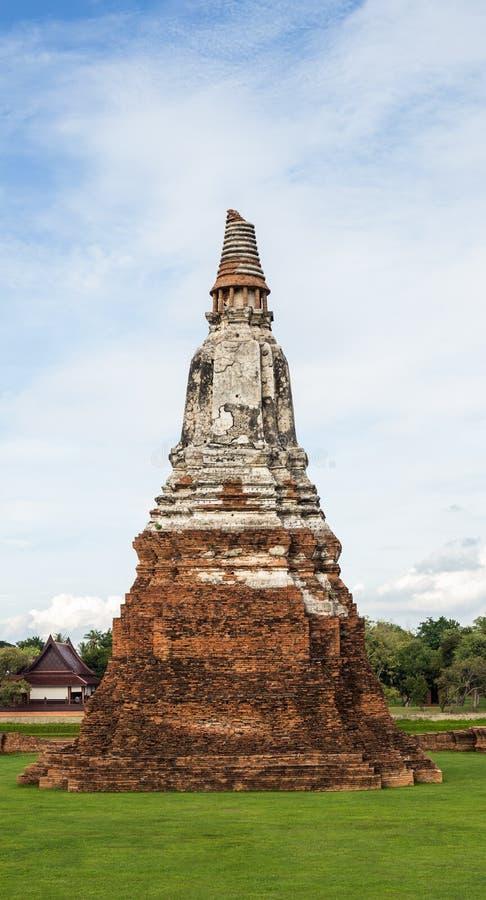 Pagode in Wat Chaiwatthanaram Temple, Ayutthaya stock fotografie