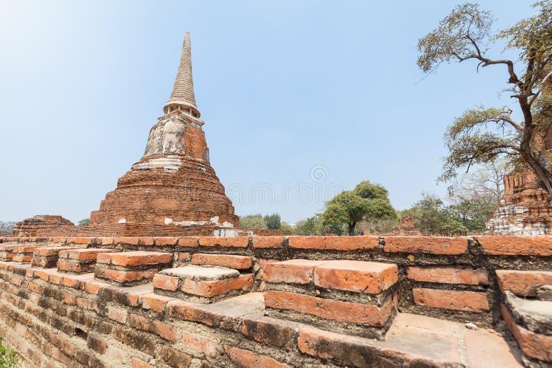 Pagode in Wat Mahathat lizenzfreies stockfoto