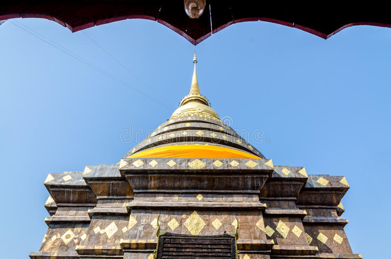 Pagode in Wat Pra That Lampang Luang stock fotografie