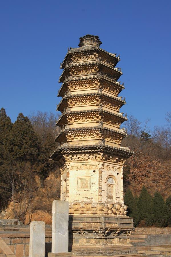 Pagoden 10 van Yinshan stock foto