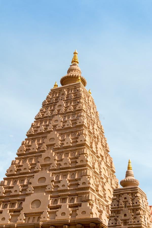 Pagoden lokaliseras i Wat Thakham, Mae Hia, Mueang Chiang Mai, C arkivfoto