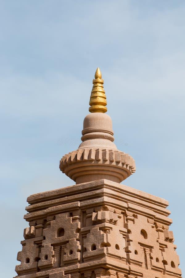 Pagoden lokaliseras i Wat Thakham, Mae Hia, Mueang Chiang Mai, C royaltyfria foton