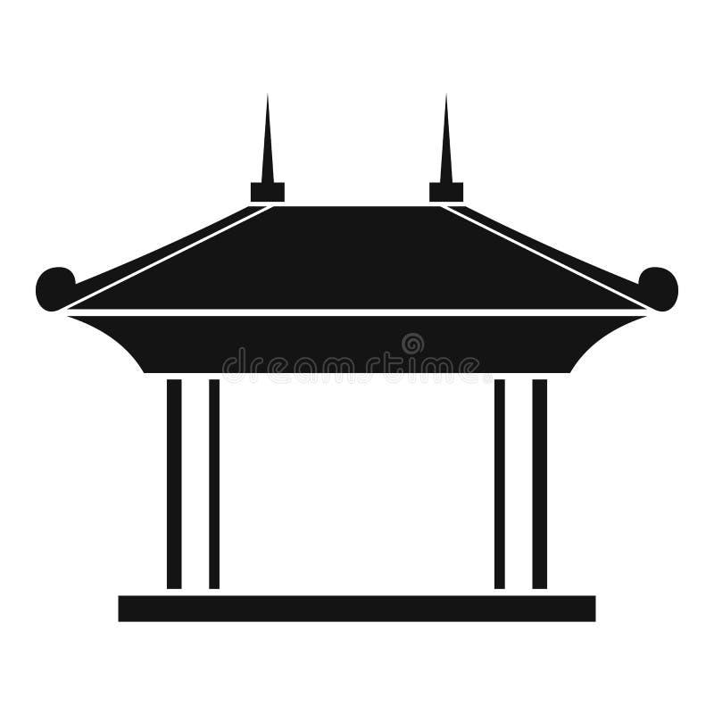 Pagodepictogram, eenvoudige stijl stock illustratie