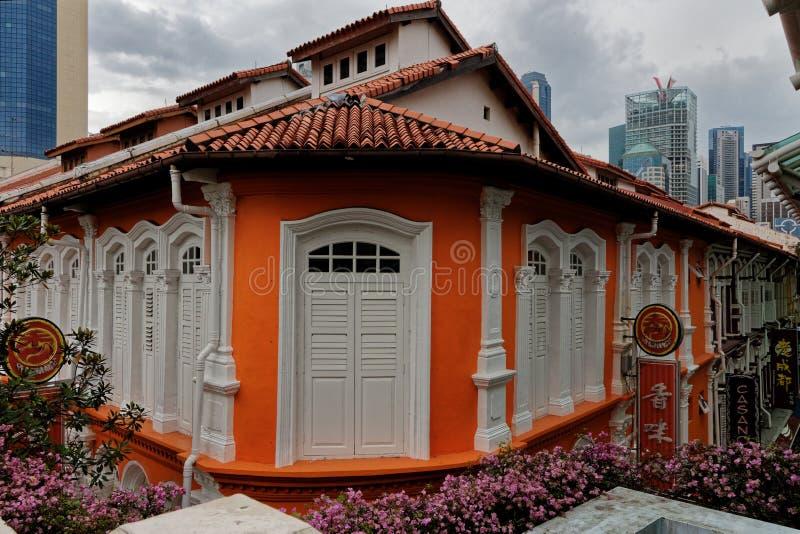 Pagodestraat, Singapore, Sophouses stock afbeeldingen