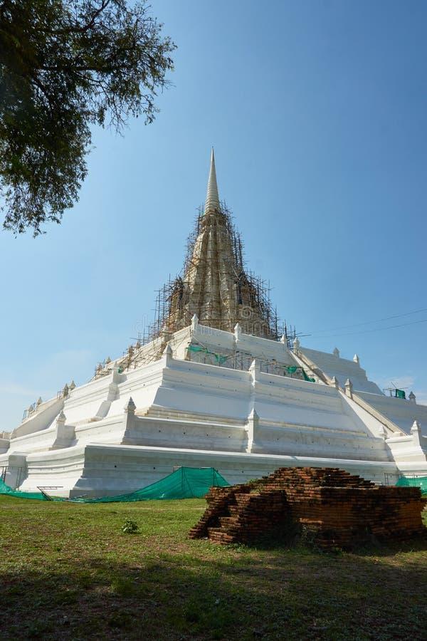 Pagodowa odbudowa Proces przywrócić stara świątynia obrazy stock