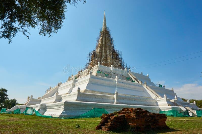 Pagodowa odbudowa Proces przywrócić stara świątynia fotografia royalty free