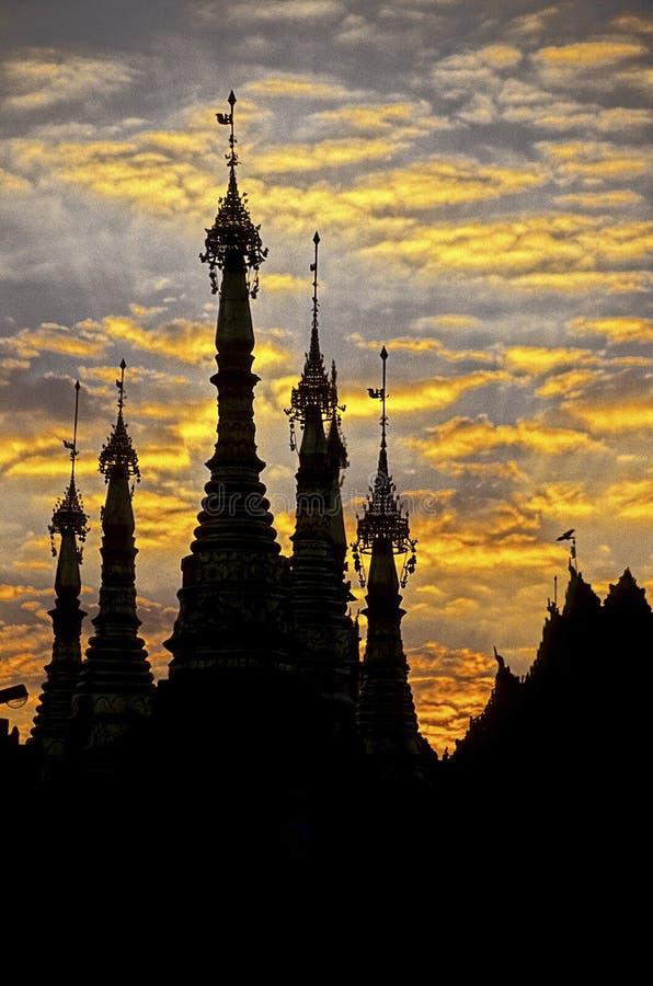 pagodowy Burma schwedagon Myanmar Yangon zdjęcie royalty free