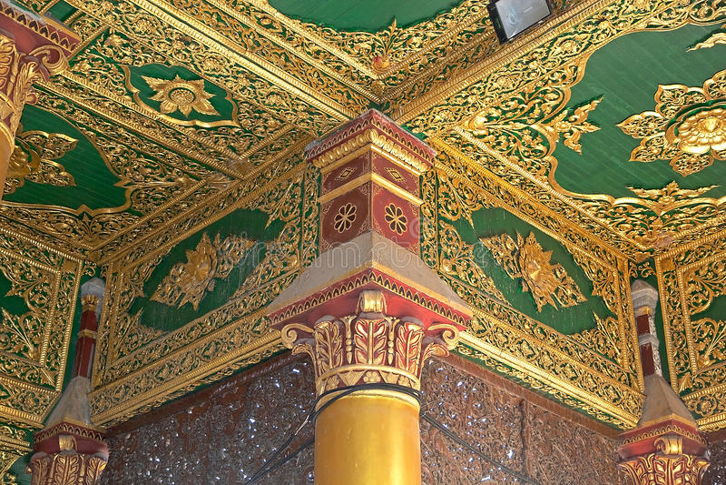 pagodowy Myanmar shwedagon Yangon obrazy royalty free