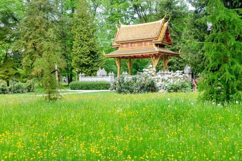 pagodowy tajlandzki w Złym Homburg Niemcy zdjęcia stock