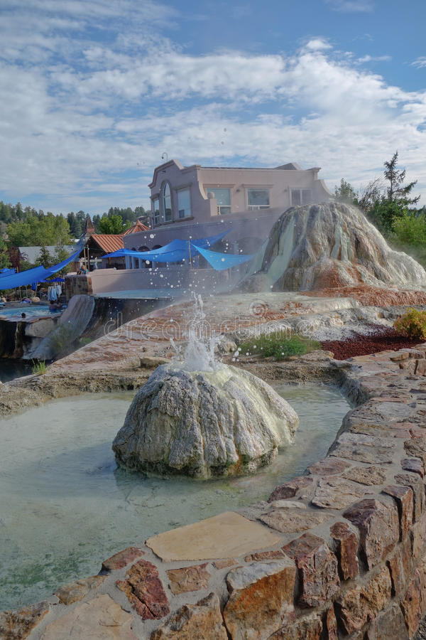 Pagosa Springs Resort and Spa and mineral deposits. This picture was taken in Pagosa Springs, Southern Colorado. Now a popular resort and spa, it was originally stock photography