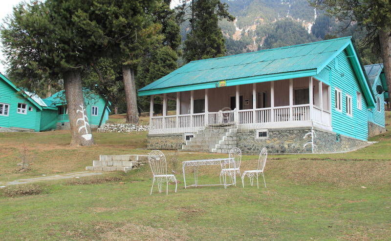 Hut In Pahalgam. stock image