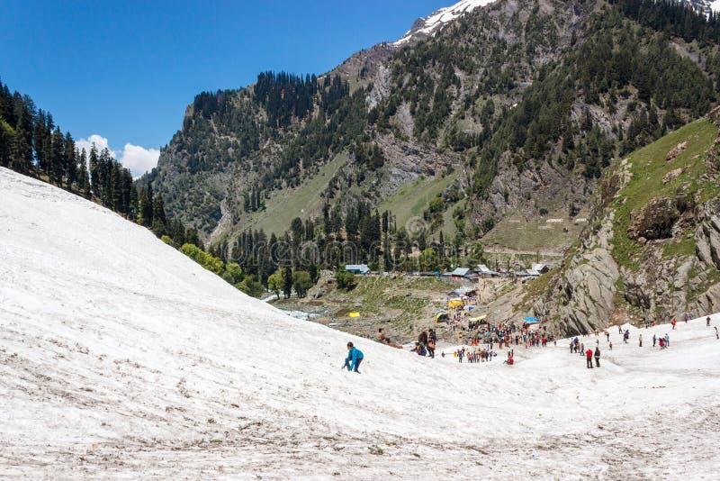 Pahalgam, van Jammu en van Kashmir toerisme, India royalty-vrije stock fotografie