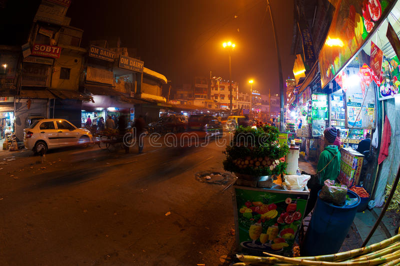 Paharganj at night royalty free stock photo