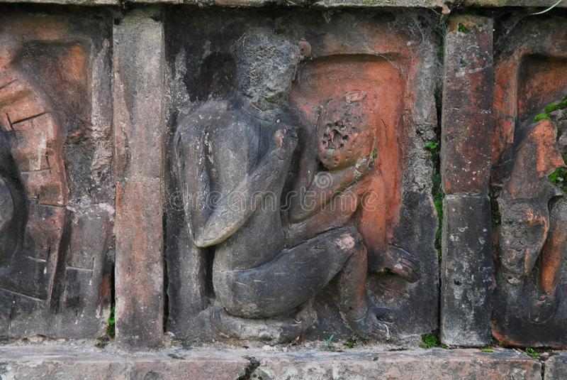 Paharpur Bihar arkeologiska platser i Bangladesh arkivbilder