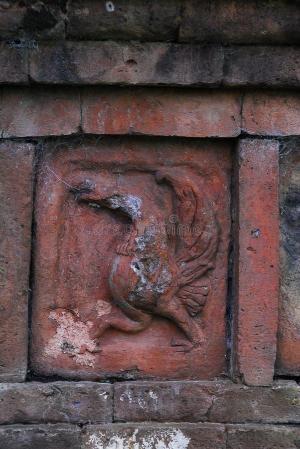 Paharpur Bihar arkeologiska platser i Bangladesh royaltyfri bild