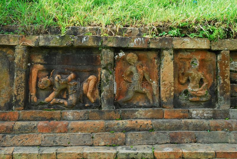 Paharpur Bihar arkeologiska platser i Bangladesh arkivfoto